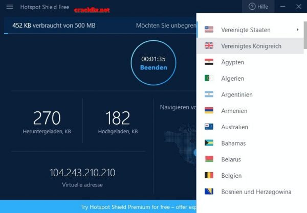 Hotspot Shield 8.4.5 Crack Full Key For Windows Free Download 2019