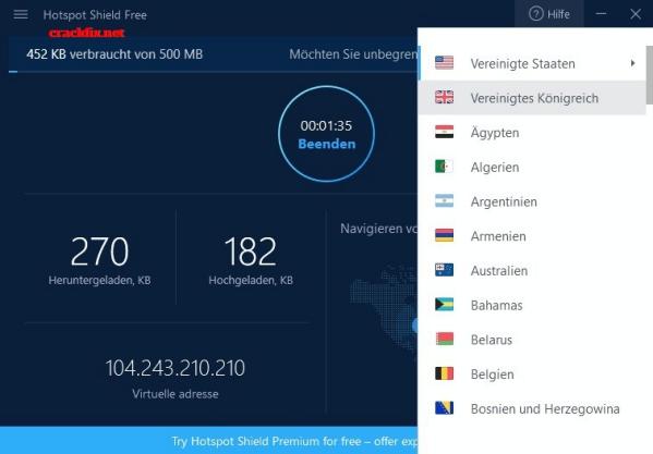 Hotspot Shield 8.5.2 Crack + Premium 2019 Free Download [Mac+Win]
