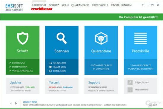 Emsisoft Anti-Malware 2020.6.0.10209 Crack + Serial Key [Mac+Win]